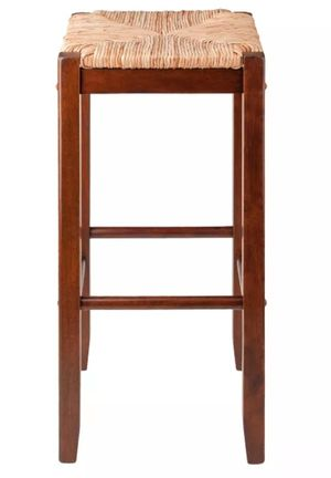 2PC Kaden Barstool Set Rush Seat Walnut for Sale in Indianapolis, IN