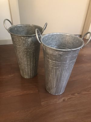 Galvanized buckets for weddings (sparklers, etc) for Sale in Redmond, WA