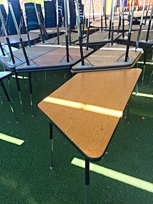 Virco Trapezoid Tables Student Desks for Sale in Glendale, AZ
