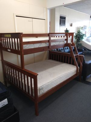 New Twin/Full Wooden Bunk Bed Frame for Sale in Cleveland, OH