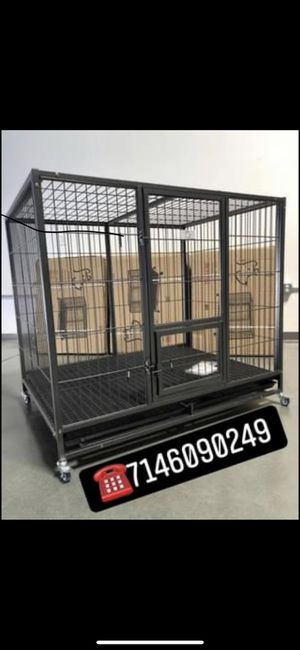 Heavy duty dog pet cage kennel size 50 XXL with plastic floor tray and wheels new in box 📦. for Sale in Pomona, CA