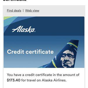 2 Flight Credits of 173.40 Each for Sale in Elk Grove, CA