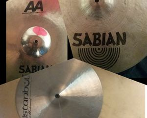 3 crash cymbals, Istanbul, Sabian for Sale in Portland, OR