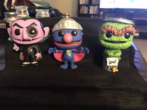 """""""Sesame Street"""" Super Grover, The count and Oscar the grouch Funko pop set of 3 for Sale in Smithfield, NC"""