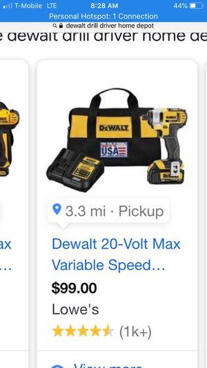 Dewalt 20v drill driver for Sale in Brockton, MA