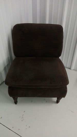 Brown armless chair for Sale in Paducah, KY