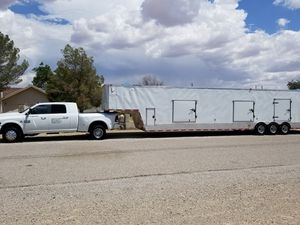 "2016 FREEDOM ENCLOSED 2 CAR TRAILER 48"" FOOTER. for Sale in El Paso, TX"