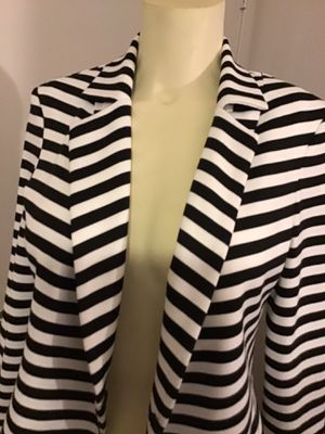 BLACK AND WHITE STRIPED JACKET for Sale in Irvine, CA