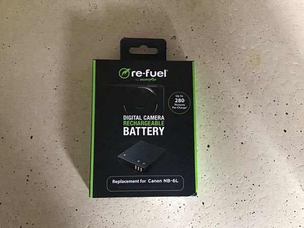 Re-Fuel Digital Camera Rechargeable Battery for Canon NB-6L