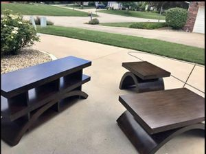 VIRTUAL YARD SALE PATIO SET w/chairs- $250 QUEEN BED, DRESSER & NIGHTSTAND-$250 CONSOLE,COFFEE,END TABLE REAL WOOD-$400 NEW IM BOX PIZZA OVER $45 BIR for Sale in Florissant, MO