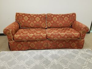 Red Patterned Couch for Sale in Denver, CO