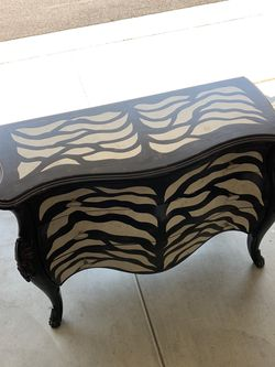 Zebra dresser - table bedroom armoire for Sale in Ladera Ranch,  CA