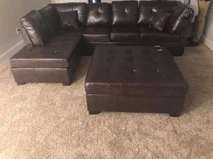 Brand new darie brown leather sectional sofa for Sale in Roswell, GA