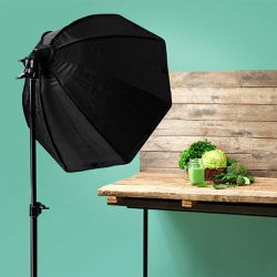 """26"""" Continuous Octagonal Soft Box Lighting Light Kit for Photo Studio, Ready For Pickup for Sale in Chino,  CA"""