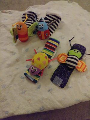 Infant wrist and ankle rattles NEW for Sale in Tulsa, OK