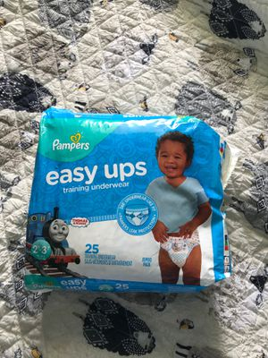 Diapers easy ups from pampers 25ct for Sale in San Diego, CA