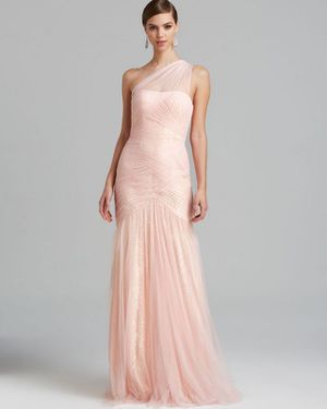 Monique Lhuillier Blush Pink Gown size 8P for Sale in Running Springs, CA