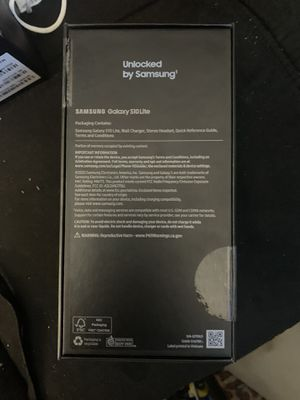 Samsung S10 lite brand new I'm the box protective plastic still on phone........... no head phones with phones only down fall for Sale in Oceanside, CA