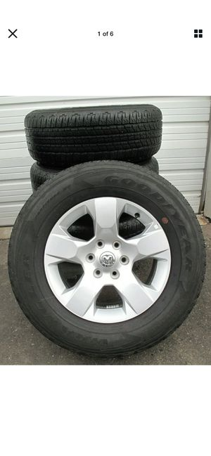 """18"""" FACTORY 2019 2020 RAM 1500 6 LUG FACTORY WHEELS AND GOODYEAR TIRES 2669 8-10 for Sale in VLG WELLINGTN, FL"""