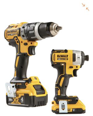 DEWALT 20-Volt MAX XR Lithium-Ion Cordless Brushless Drill/Impact Combo Kit (2-Tool) with (1) Battery 2Ah and (1) Battery 4Ah for Sale in Houston, TX