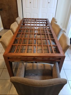 Wood table with 8 chairs. for Sale in National City, CA