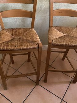 2 Bar StoolsChairs And Oak dining room table and two chairs come with the table for Sale in Norwalk,  CA