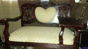 Vintage antique gossip telephone bench/chair beautiful piece for Sale in Dallas, TX
