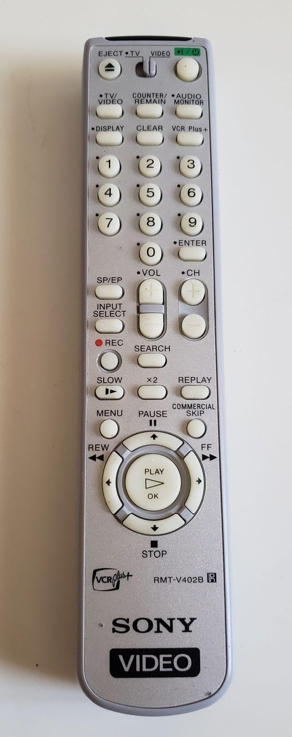 Sony VCR Remote RMT-V402B VCR Plus +.