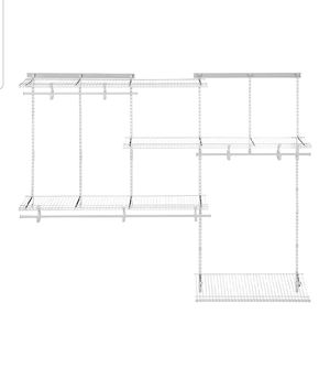 ClosetMaid 22875 ShelfTrack 5ft. to 8ft. Adjustable Closet Organizer Kit, White , New, PRICE IS NOT NEGOTIABLE. for Sale in Palatine, IL