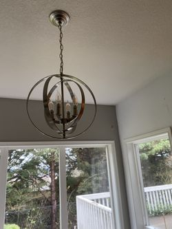 Small silver chandelier for Sale in Damascus,  OR
