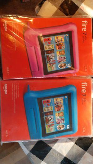 2 Amazon fire 7 tablets (9th gen) for Sale in Walpole, MA