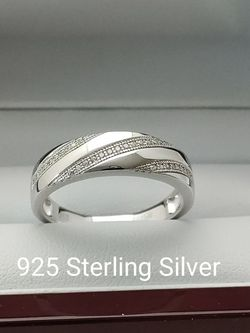 New with tag Solid 925 Sterling Silver MEN'S WEDDING Ring size 9 or 10 $125 OR BEST OFFER ** FREE DELIVERY!!! 📦🚚 ** for Sale in Glendale,  AZ