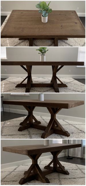 6FT x 3FT Solid Wood Rustic Farmhouse Dining Table for Sale in Modesto, CA