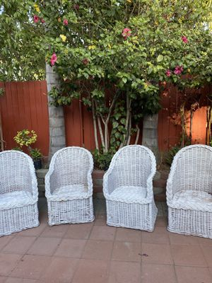 Four wood chairs for Sale in Redlands, CA