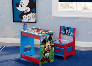 Disney Mickey Mouse Kids Wood Desk and Chair Set by Delta Children for Sale in Hayward, CA