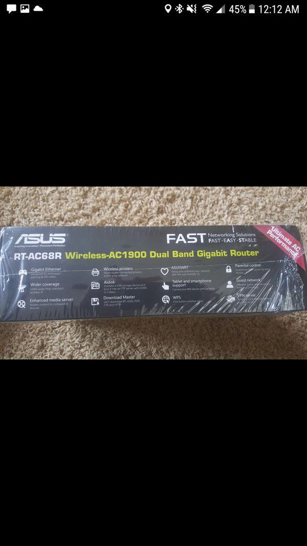 ASUS RT-AC68R 802.11ac Wireless AC1900 Router
