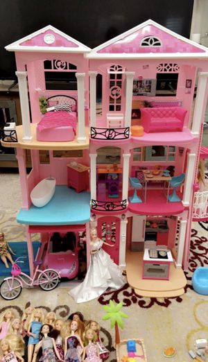 Barbie Dream House, Barbie Team Stacie Puppies Playset , Barbie Closet set , Barbie Pet Care Center and much more! for Sale in Chino Hills, CA