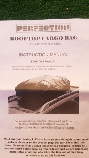 Rooftop cargo bag for Sale in Highland, CA