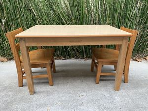 ChildCraft Children's Table and 2 Chairs / Kids Desk for 2 for Sale in Carlsbad, CA