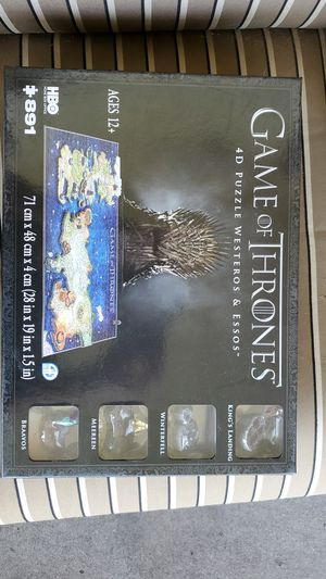 New sealed in box Game of thrones 4d puzzle for Sale in West Covina, CA