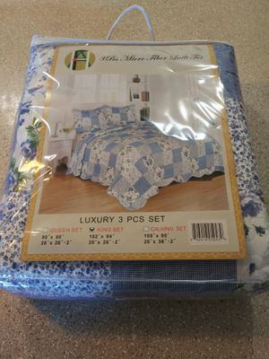 Bed Blankets Luxury 3 PCS SET (KING SET) for Sale in Santa Ana, CA