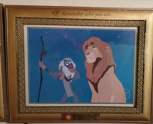 Disney lithograph, Lion king. COLLECTOR'S frame. for Sale in Vancouver, WA