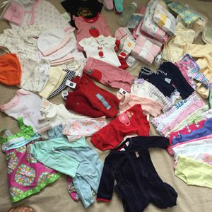 90 piece Lot of New Baby Clothes NB-6mo .From a clean and smoke free home for Sale in Suffolk, VA