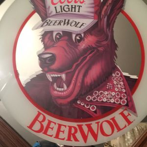 Coors light beer wolf mirror framed for Sale in Largo, FL