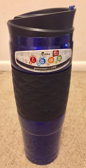 Bubba HT Vacuum-Insulated Stainless Steel Travel Mug with Grip, 26 oz, Blue for Sale in Indianapolis, IN