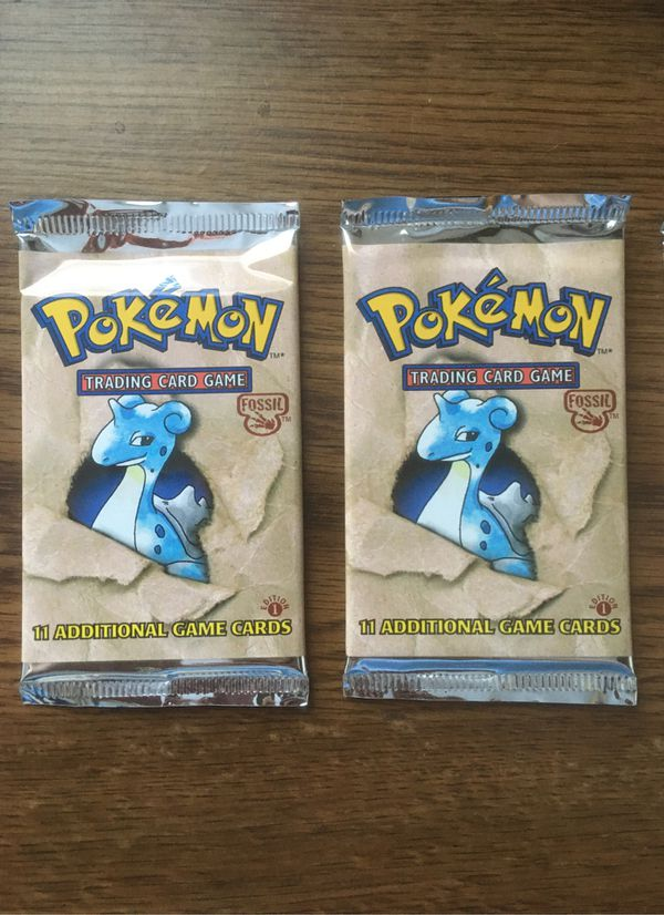 Unweighed 1st Edition Pokemon Fossil Packs