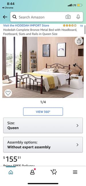 Queen bed frame new in box for Sale in Fresno, CA