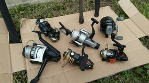Old fishing poles reels for Sale in Tampa, FL