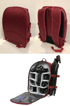 New in box FileMate ECO Series Dark Red Deluxe SLR Camera Cushion Backpack Tripod Holder 13x7x16 inches for Sale in Montebello, CA