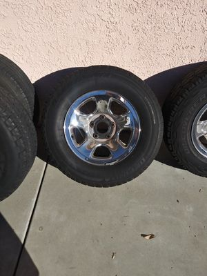 """2004 Dodge Ram Chrome 17"""" Rims and Tires for Sale in Phillips Ranch, CA"""
